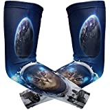 Wamika Arm Sleeve For Men Women Cat Outer Space UV Protection Cooling Long Sports Compression Arms Cover Tattoo Sleeves Perfect For Baseball Football Basketball Running - 1 Pair