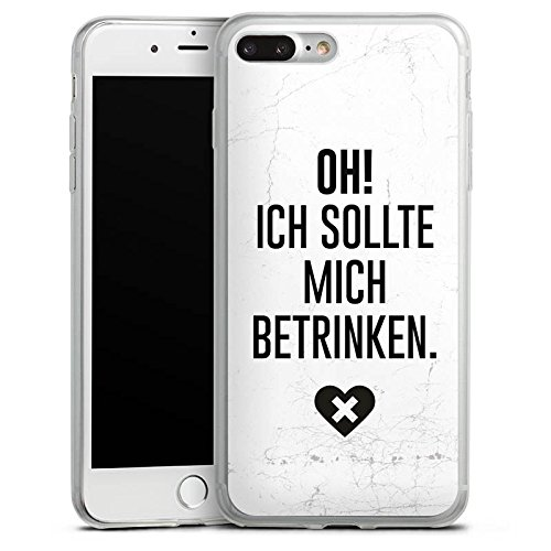 Apple iPhone 8 Plus Slim Case Silikon Hülle Schutzhülle Feiern Party Leben Silikon Slim Case transparent