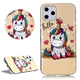 DasKAn Custodia in TPU Love Heart Unicorn per iPhone 11 6.1 Stampato in 3D Simpatico Animale colorato Design dei Personaggi dei Cartoni Animati Gel Gomma Silicone AntiGraffio Cover Protettiva