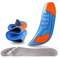 TOWINO® Sports Insole Silicone Gel Insoles Sports Running Insoles Massaging Shoe Inserts Pad Shock Absorption (Size:7-11…