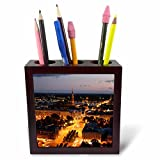 3dRose ph_82848_1 City SkyLIne, Evening, Riga, Latvia Eu39 Bbi0020 Bruce Yuanyue Bi Tile Pen Holder, 5-Inch