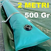 Scp Italy Srl Tubolare Salsicciotto Tubolari Perimetrali Rinforzati in PVC Verde per Telo di Copertura Invernale per Piscina - Lunghezza MT. 2 da 500 Gr/mq - Ultra Resistenza - New