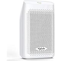 hysure 700ml Electric Dehumidifier, Removes Humidity 300ml per day, 700ml Detachable Water Tank, LED Indicator, Automatic, Efficient, Portable, Quiet, No Need Refill