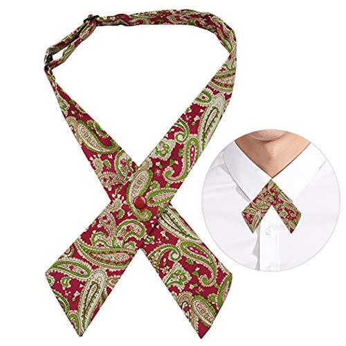 Kreuz-muster-krawatte (outgeek Fliege Mode Muster einstellbar Kreuz vor gebundenen Formale Krawatte einheitliche Fliege)