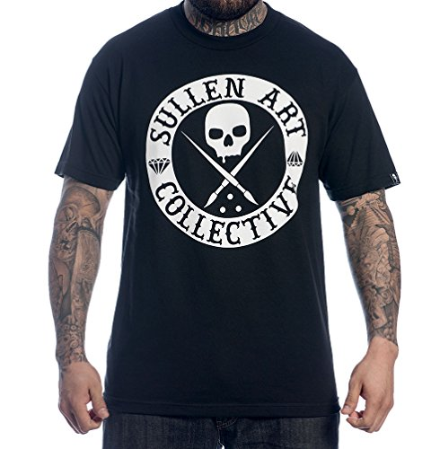 Sullen Men's BOH Solid SS T Shirt Black 2XL (T-shirt Boh Mens)