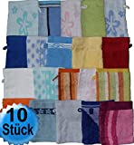 10 Stück Waschhandschuh Frottier
