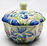 Round Clam-shaped trinket box, Iris Design