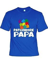 Stiefvater Vatertag Geschenk Idee Familie Vater T-Shirt PATCHWORK PAPA Geburtstagsgeschenk Papa Vatertagsgeschenk verschenken Dankeschön zu Weihnachten Vater : )