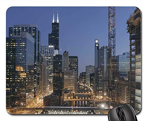 Mouse Pads - Chicago Sears Tower Willis Tower South Skyline