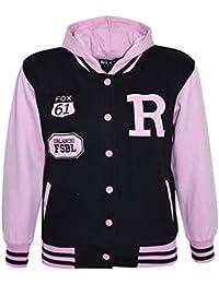 A2Z 4 Kids® Kids Girls Boys R Fashion Fox Baseball Hooded Jacket Varsity Hoodie Age 2-13 Years