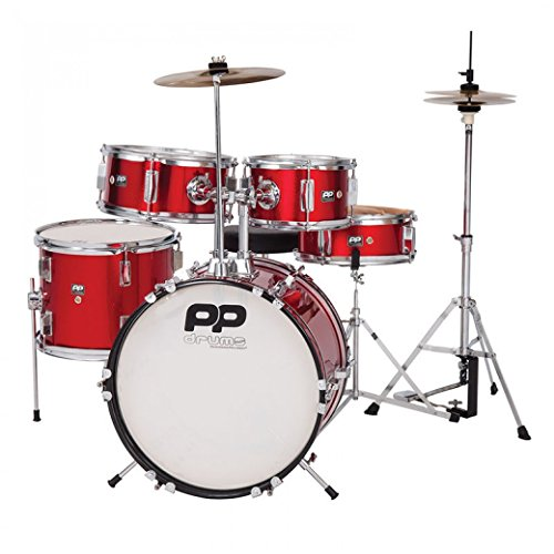 Performance Percussion PP200RD Kinder Schlagzeug Set 5-teilig rot