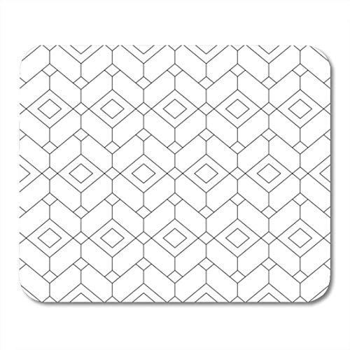 Luancrop Mauspad Pastell geometrisches Muster Einfache Monochrom Mesh Neutral Hexagon Weave Mousepad für Notebooks, Desktop-Computer Mauspads, Bürobedarf -