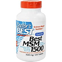Doctors Best, MSM 1500, 1500mg, 120 comprimés