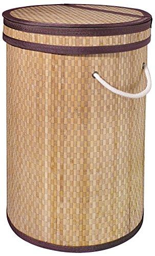 Gelco 707791bambú cesto para Ropa de bambú y Tejido Natural 39,5x 37x 56cm