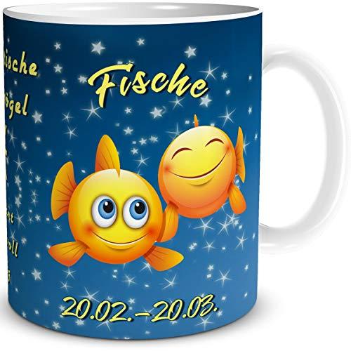 Sternzeichen Fische mit Spruch als lustiges Geschenk für Frauen und Männer zum Geburtstag ()