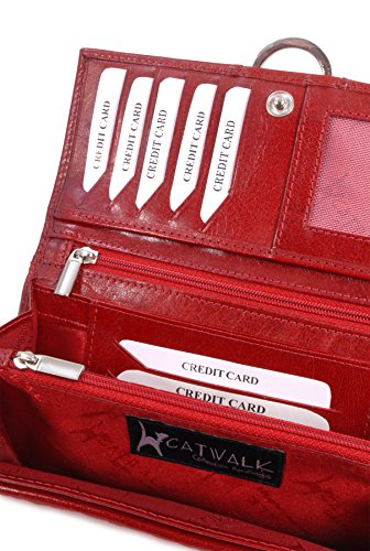 Borsellino in pelle Catwalk Collection - Odette - scatola regalo Rosso