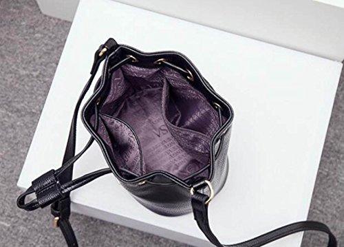 Borsa Da Donna Elegante Borsa A Tracolla Moda Borsa A Tracolla Messenger  Bag Ladies Mini Secchiello ... 20dfadf1ad5