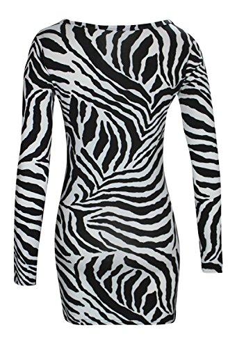 Fast Fashion - Robe De Animale Imprimé Zèbre Haut Sans Manches Leggins Costume - Femmes Robe Bodycon