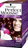 Schwarzkopf Perfect Mousse permanente Farbe Stufe 3, 586 Mahagoni Braun, 1er Pack (1 Stück)
