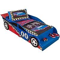 Preisvergleich für KidKraft 76038 Rennauto Kinderbett aus Holz für Kleinkinder Möbel für Kinderzimmer