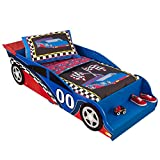KidKraft 76038 Race car Kids, Toddler, Children's Bed, Bedroom Furniture Junior Wooden Bed Frame
