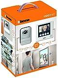 Bticino 316913 Kit Videocitofono 2 Fili, Display 4.3 Pollici a Colori, Mono/Bifamiliare, Bianco