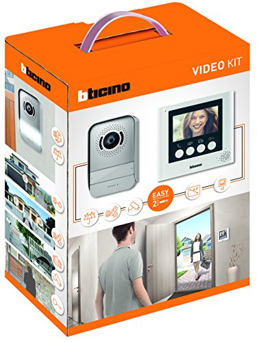"""Immagine di BTicino 316913 Kit Videocitofono 2 Fili, 3,5"""", Mono/Bifamiliare, Bianco"""