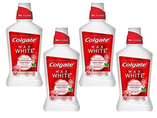 Colgate Max White Instante Enjuague - 4 Paquetes 500