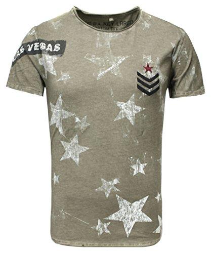 Key Largo Herren T-Shirt MT Las Vegas Round Oliv (45) S