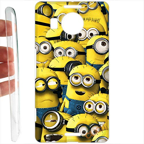 Custodia cover rigida per microsoft nokia lumia 950 xl 068 minions