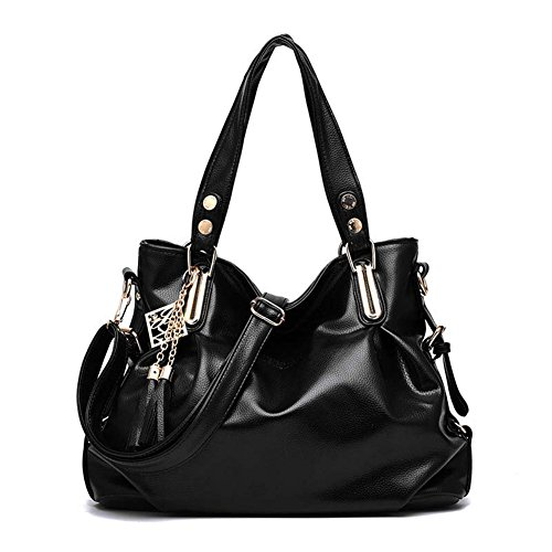 SHUhua , Damen Rucksackhandtasche schwarz