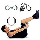Ranbow Vielseitiges Set aus 3 Widerstandsband für Stretching, Muskelkräftigung Fitnessbänder und Dehnung Gymnastikband Gummiband, 3- Farben