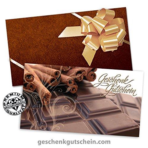 100 Stk. Geschenkgutscheine + 100 Stk. Kuverts + 100 Stk. Schleifen für Feinkostläden, Confiserie FK1703
