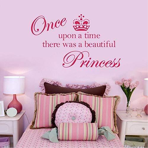 Mrhxly /Verkauf Krone Prinzessin Cute Vinyl Wand Zitat Aufkleber Prinzessin Aufkleber Aufkleber Dekoration Für Mädchen Zimmer 70 * 52Cm (Verkauf Krone Prinzessin Für)