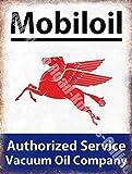 Mobiloil Garage Vintage Huile De Moteur Vintage Métal/Panneau Mural Métalique - 15 x 20 cm