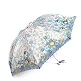 Paraguas plegables Sombrilla de sol plegable mini bordado de encaje paraguas tres veces paraguas de sol UV ( Color : E )