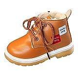 Kinder Schuhe Baby Winter Mädchen Jungen Klassisch Martin Stiefel Stiefeletten Schneestiefel, QinMM Retro Outdoor Spitze Warm Mode