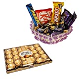 Chocolate Basket With 24 Pcs Ferrero Rocher