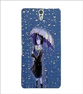 PrintDhaba Umbrella Girl D-5003 Back Case Cover for SONY XPERIA C5 ULTRA (Multi-Coloured)