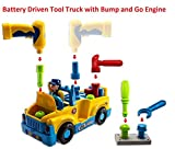 Assemble and Disassemble Real Mechanical Tools Lights and Sound Bump and Go Battery Operated Action Tool Truck Vehicle Set for Kids, 3 Years