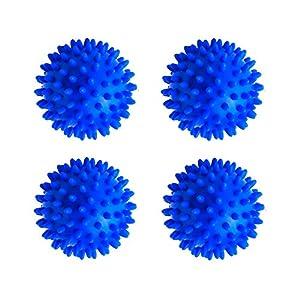 rosepartyh Trocknerbälle Waschball für Waschmaschine Waschkugel Dryer Laundry Washing Balls Mineralkugeln BPA frei Allergikerfreundlich Dekontamination Wiederverwendbare PVC 4 Pcs