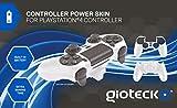 Gioteck - Controller Power Skin, Batería Incorporada, Color Blanco (PlayStation 4)
