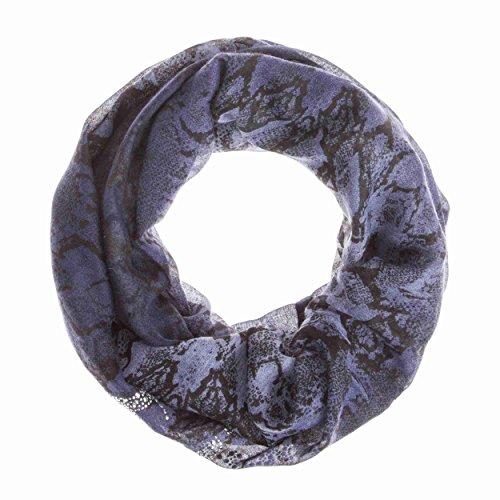 Codello Loop-Schal mit Schlangenprint Blau (Schal Snake-print)