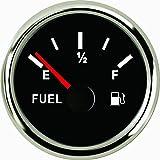 Universel à l'huile Jauge de niveau de carburant au mètre 240–33ohm 52mm avec rétroéclairage 9–32V