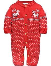 ZOEREA jumpsuit enfant pull bébé fille enfant barboteuse bébé vetement costume enfant garçon chandails de Noël manches longues Sweater