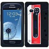 kwmobile FUNDA DE SILICONA Diseño de cassette para Samsung Galaxy S3 Mini i8190 en Negro - Un diseño elegante y una protección óptima