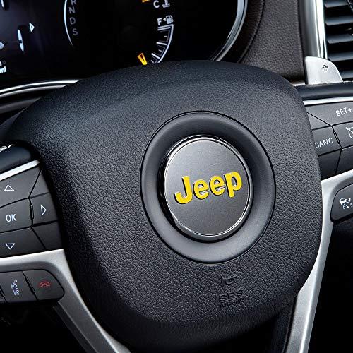 IPG für Jeep Lenkrad Overlay Aufkleber Vinyl Cover Set 3 Stück für Emblem Do it Yourself Sticker Set Personalisieren Sie Ihren Jeep, gelb