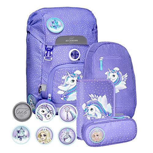 6-teiliges Schulrucksack Set Purple Unicorn Kollektion 2019
