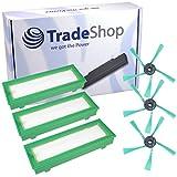 Mantenimiento Set 3x sustituir filtro HEPA filtro de polvo Allergie filtro micro filtro + 3x cepillos Juego de cepillos laterales para Vorwerk Kobold VR200