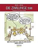 Zwillinge 2018: Sternzeichenkalender-Cartoonkalender als Wandkalender im Format 19 x 24 cm.